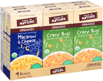 Back to Nature Organic Macaroni & Cheese Dinner Variety Pack 9-6 oz. Boxes