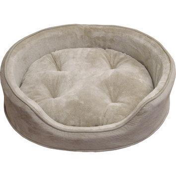 Furhaven Snuggle Terry and Suede Pet Bed Color: Clay, Size: Medium - 23