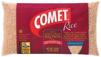 Comet 100% Whole Grain Brown Premium Select Rice 32 Oz Bag