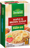 Springfield® Maple & Brown Sugar Instant Oatmeal 10-1.51 oz. Packets