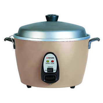 Tatung Multifunction Indirect Heat Rice Cooker Steamer and Warmer Size: 6-Cup, Color: Champagne