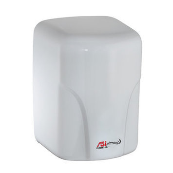 American Specialties Turbo-Dri High Speed Surface Mounted 120 Volt Automatic Hand Dryer in White