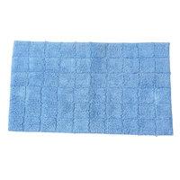 Textile Decor Castle 100% Cotton Summer Tile Spray Latex Back Bath Rug, 30 H X 20 W, Medium Blue