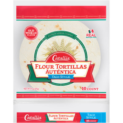 Catallia® Taco Style Flour Tortillas 9 oz. Bag