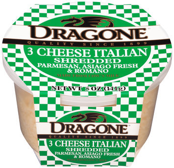 Dragone® Shredded 3 Cheese Italian Cheese 5 oz. Tub