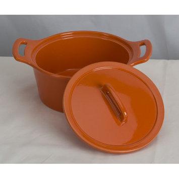 Omniware Stoneware Round Casserole Size: Small, Color: Orange