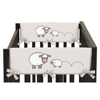 Sweet Jojo Designs Little Lamb Side Crib Rail Guard Cover