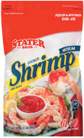 Stater Bros. Peeled & Deveined Tail-On Cooked Medium 61-70 Shrimp 32 Oz Bag