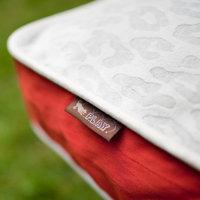 PLAY Seregeti Grey Rectangle Dog Bed Medium