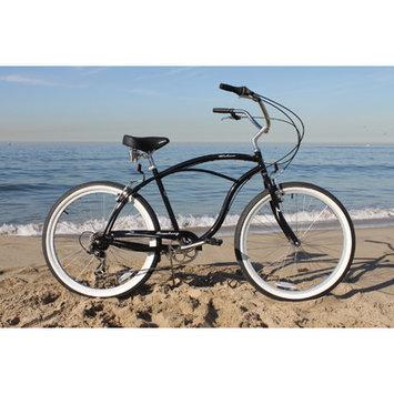 Firmstrong Urban Man - Men's Black 7 Speed Beach Cruiser Bicycle