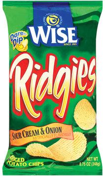 Wise Ridged Sour Cream & Onion Potato Chips 8.75 Oz Bag