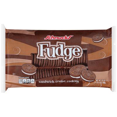 Schnucks® Fudge Sandwich Creme Cookies 25 oz. Tray