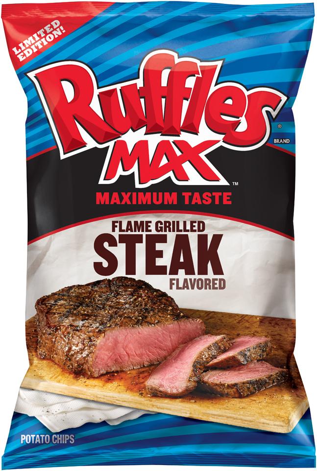 Ruffles® Potato Chips Brand Max™ Maximum Taste Flame Grilled Steak Flavored