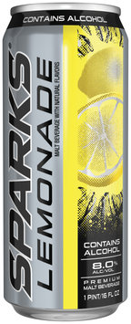 Sparks Lemonade 8.0% Alcohol By Volume Premium Malt Beverage 16 Oz Can