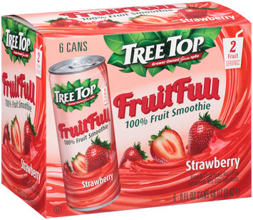 Tree Top® Fruit Full Strawberry 100% Fruit Smoothie 6-8 fl. oz. Cans