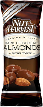 Nut Harvest® Butter Toffee Dark Chocolate Almonds 3 oz. Bag