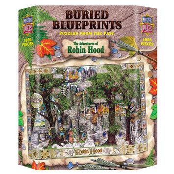 Masterpieces Buried Blueprints Adventures of Robin Hood 1000 Piece Puzzle