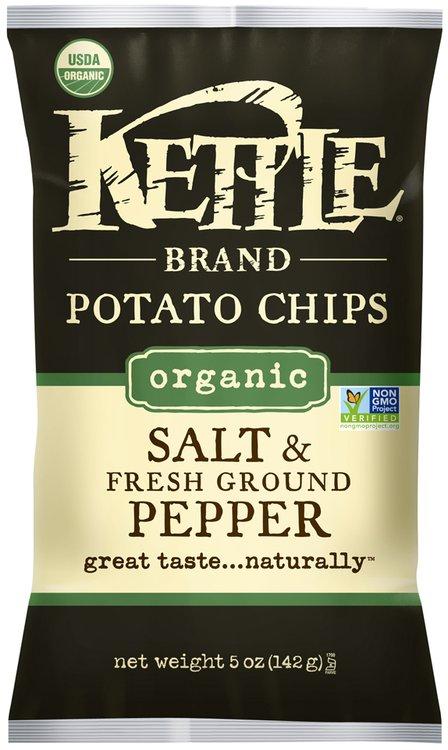 Kettle Brand® Organic Salt & Fresh Ground Pepper Potato Chips 5 oz. Bag