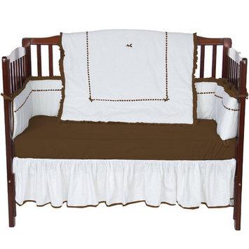 Baby Doll Bedding Unique 4 Piece Crib Bedding Set Color: Chocolate