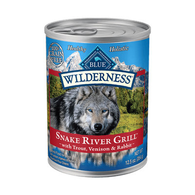 THE BLUE BUFFALO CO. BLUE™ Wilderness® Snake River Grill™ with Trout, Venison & Rabbit Grain-Free Wet Dog Food
