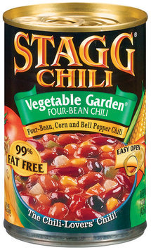 STAGG CHILI Vegetable Garden Four Bean 99% Fat Free Chili 15 OZ CAN