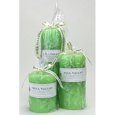 Mill Valley Candleworks 3 Piece Spa Day Scented Pillar Candle Set Size: 3