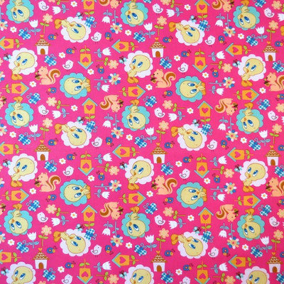 Stwd Tweety Bird Pack N Play Fitted Sheet Color: Hot Pink