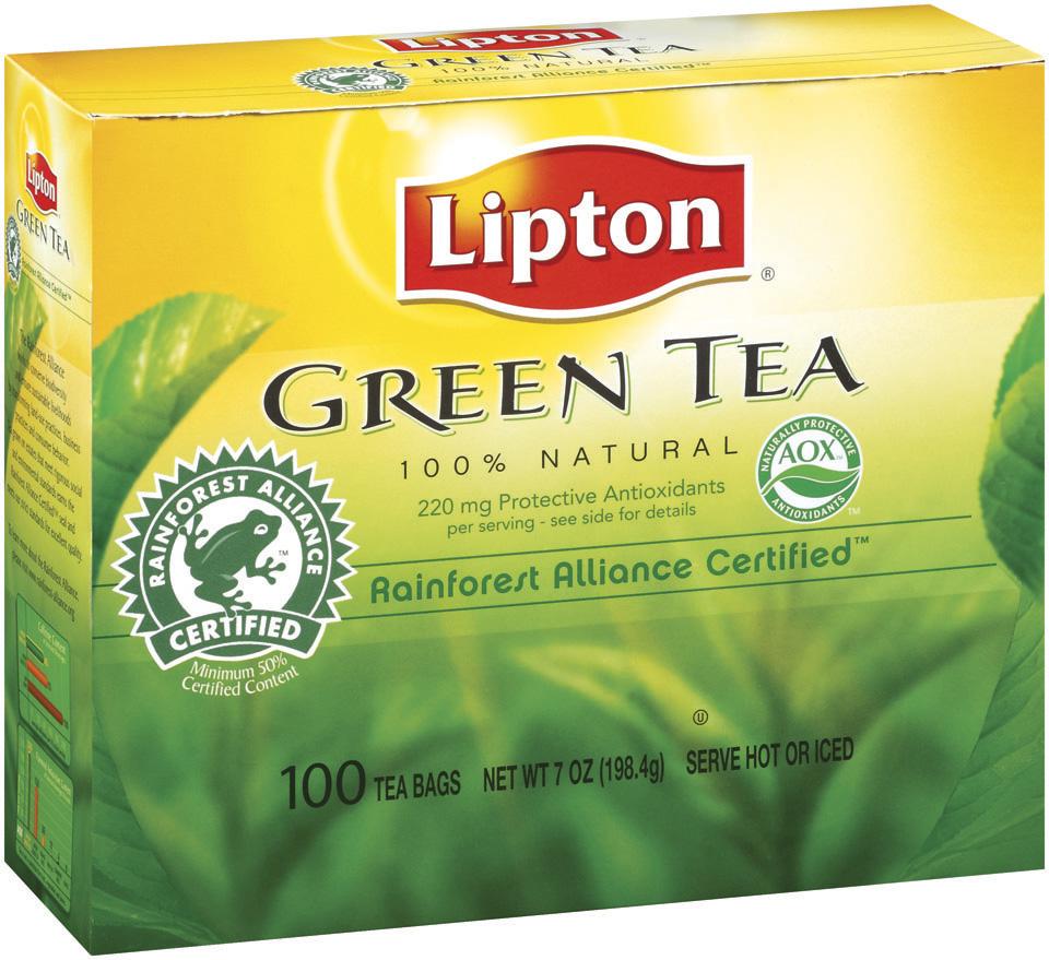 Lipton® 100% Natural Pure Green Tea
