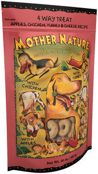 Mother Nature 4 Way Treat Natural Dog Biscuits 20 Oz