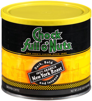 Chock Full O'Nuts® 100% Arabica New York Roast  Coffee 23 oz. Can