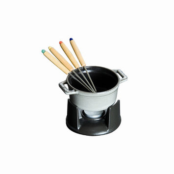 Staub Mini Chocolate 0.25 qt. Fondue Set in Graphite