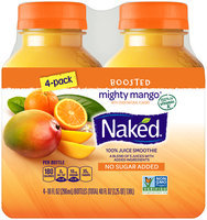 Naked® Boosted Mighty Mango® 100% Juice Smoothies 4-10 fl. oz. Bottles