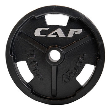 Cap Strength 2 Black Commercial Grip Plate - Weight: 2.5 lbs