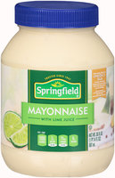 Springfield® Mayonnaise with Lime Juice 30 fl. oz. Plastic Jar