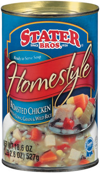 Stater Bros. Homestyle Roasted Chicken W/Long Grain & Wild Rice Ready to Serve Soup 18.6 Oz Can