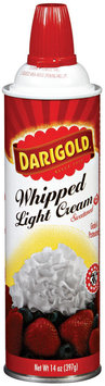 Darigold Light Sweetened Whipped Cream 14 Oz Can