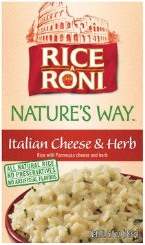 Rice-A-Roni Nature's Way Italian Cheese & Herb Rice Mix 6.4 Oz Box