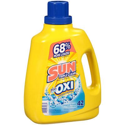 Sun® Oxi Original Fresh Laundry Detergent 42 Loads 75 Fl Oz Plastic Jug