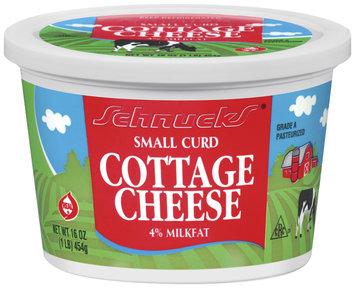Schnucks 4% Milkfat Small Curd Cottage Cheese 16 Oz Plastic Tub