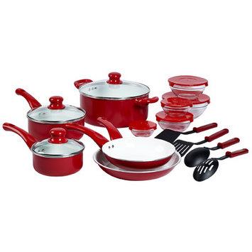 Basic Essentials Aluminum 22-Piece Cookware Set