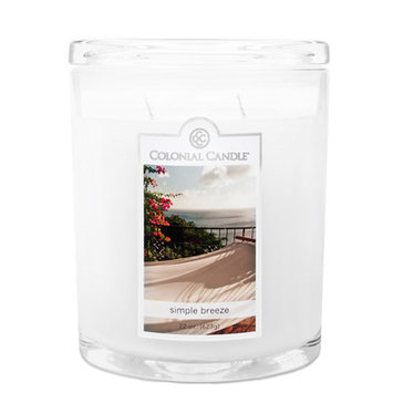 Fragranced in-line Container CC022.1896 22oz. Oval Simple Breeze Candles