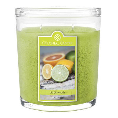 Colonial Candle Spring 2015 Citrus Woods 22 oz. Jar Candle