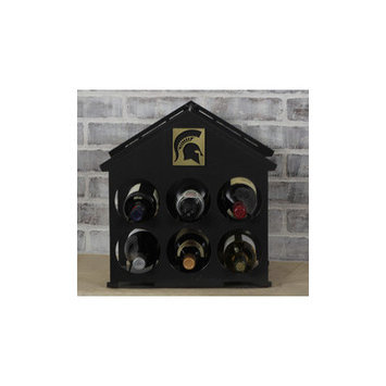 Hensonmetalworks 6 Bottle Tabletop Wine Rack NCAA Team: Michigan State