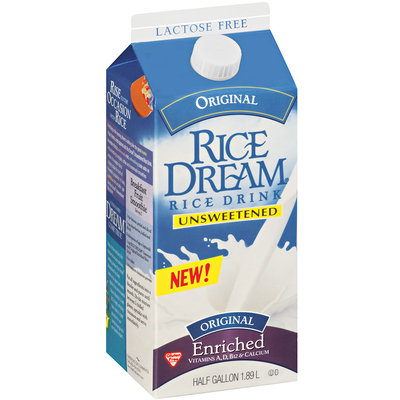 Rice Dream® Unsweetened Enriched Original Rice Drink 0.5 gal. Carton