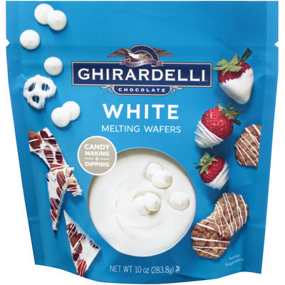 Ghirardelli Chocolate® Melting Wafers White Chocolate 10 oz. Stand-up Bag