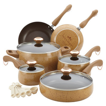 Paula Deen 15-pc. Honey Signature Porcelain Cookware Set