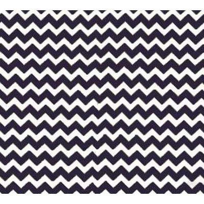 Stwd Chevron Zigzag Crib Sheet Color: Navy