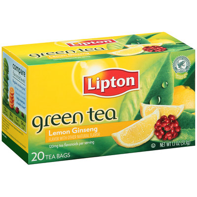 Lipton® Lemon Ginseng Green Bags 20 ct Box