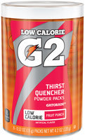 Gatorade® G2® Fruit Punch Low Calorie Thirst Quencher Powder Packs 8 ct Canister