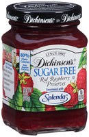 Dickinson's® Sugar Free Red Raspberry Preserves 8 oz. Jar
